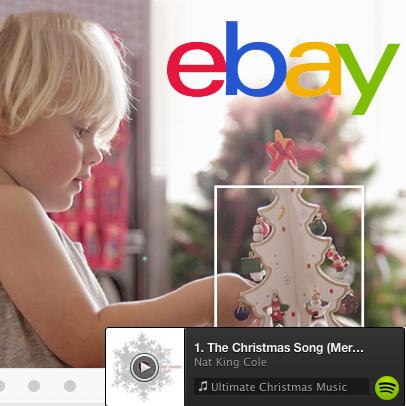 Spotify Brings Christmas Cheer To eBay Sellers