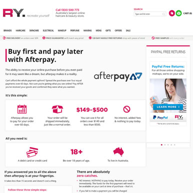RY Reaping Benefits of AfterPay